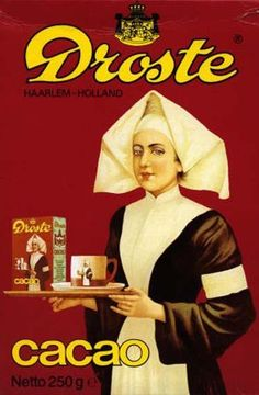 """Haarlem """"Droste effect"""" - The Dutch chocolate maker Droste, famous for the visual effect on its boxes of cocoa. The image contains itself on a smaller scale. This is called the """"Droste effect"""" Droste Effect, Pub Vintage, Vintage Style, Going Dutch, Dutch Recipes, Leiden, Vintage Advertisements, Vintage Posters, Aurora Sleeping Beauty"""