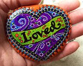 Wild Gypsy Love / adopted by gypsies / painted rock / painted stone / Sandi Pike Foundas / love from Cape Cod
