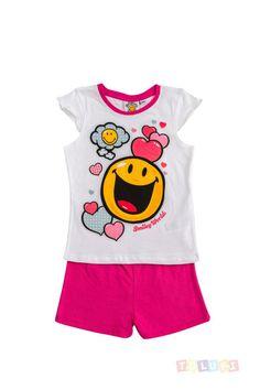 Pyjama Fille Smiley World Amour | http://www.toluki.com/prod.php?id=381 #Toluki #enfant