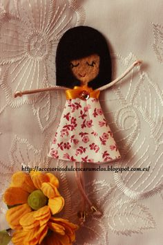 Quecas de Fieltro / Dolls felt Mod44 http://accesoriosdulcescaramelos.blogspot.com.es/search/label/Mu%C3%B1ecas%20%28Quecas%20de%20Fieltro%29