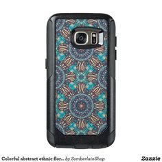 Colorful abstract ethnic floral mandala pattern OtterBox samsung galaxy s7 case