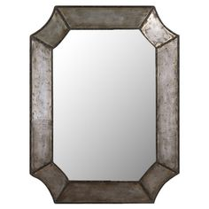 Add a lovely touch to your entryway or living room with this chic wall mirror, showcasing hammered details and a distressed finish.        ...