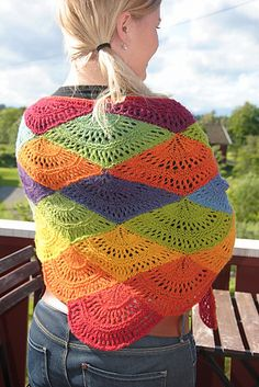 free, fan shawl crochet pattern