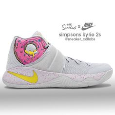 Nike Kyrie 2 x The Simpsons (send requests to and he'll do em) Basketball Games For Kids, Basketball Shoes For Men, Basketball Outfits, Tenis Basketball, Basketball Drills, Custom Sneakers, Sneakers Nike, Adidas Shoes, Kyrie Irving Shoes