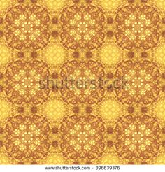 Background wall-paper, fractal pattern, yellowy-brown. A geometrical seamless pattern in modern style. Bright abstract drawing for the press, textiles, needlework and web-design.