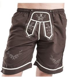 Badhose im Trachtenstyle #Lederhose #Badehose Bikini, Strand, Gym Men, Trunks, Gym Shorts Womens, Swimming, Swimwear, Fashion, Fashion Styles