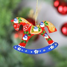 Russian rocking horse ornament