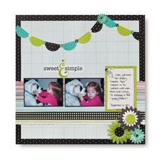 Sweet and Simple Enchanted Scrapbooking Layout from Creative Memories #scrapbooking    www.creativememor...