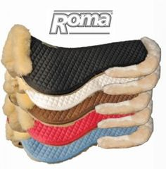 Roma Sheepskin Half Pad With Full Rolled Edges | HorseLoverZ
