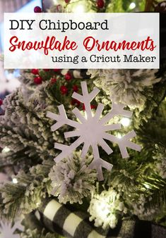 DIY Chipboard Snowfl
