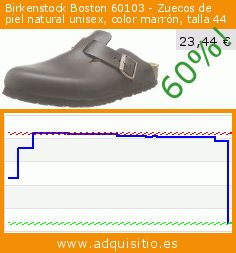 Birkenstock Boston 60103 - Zuecos de piel natural unisex, color marrón, talla 44 (Zapatos). Baja 60%! Precio actual 23,44 €, el precio anterior fue de 58,60 €. https://www.adquisitio.es/birkenstock/boston-60103-zuecos-piel-4