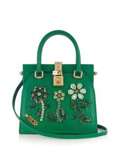Dolce Lady crystal-embellished lizard-effect tote | Dolce & Gabbana | MATCHESFASHION.COM US