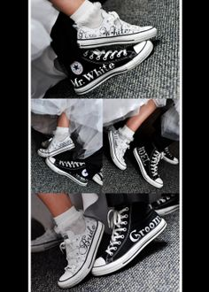 MADE TO ORDER - Wedding Converse. $5.00, via Etsy.
