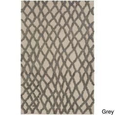 Hand-Woven Addisyn Geometric Wool Rug (5' x 8') (Grey-(5' x 8')), Grey, Size 5' x 8'
