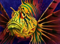 Colorful Painting - Lionfish by Scott Spillman