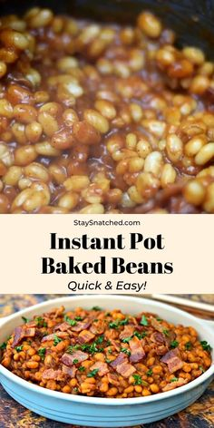 Healthy Baked Beans, Easy Baked Beans, Homemade Baked Beans, Healthy Chicken, Baked Beans Crock Pot, Pinto Bean Recipes, Baked Bean Recipes, Beef Recipes, Chicken Recipes