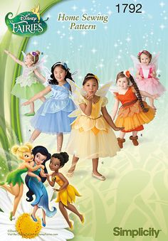Sew Disney Inspired for your Flower Girls  |  1792 Toddlers' & Child's Disney Fairies Costume  -  Disney Fairies costume for toddler & child. Dress with tutu, pants and wings depicts Tinker Bell, Fawn, Rosetta and other Pixie Hollow favorites. Disney Fairies Pattern Collection.  Simplicity : Pattern #1792