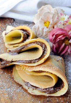 Crepes senza burro alla nutella ricetta veloce vickyart arte in cucina