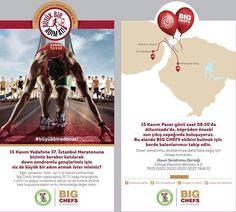 15 Kasım Vodafone 37. İstanbul Maratonu'nda down sendromlu gençlerimiz için koşacağım. Siz de Big Chefs'lere gidip 30 tl'lik bağış karşılığında tişört ve göğüs numaranızı alarak bizimle koşabilirsiniz  hadi beraber koşalım  @bigchefscafe @inhouseiletisim #downsendromuderneği #sendekoş #istanbulmaratonundayiz #istanbulmarathon2015 #run