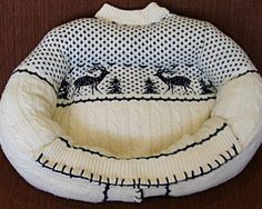 Sweater pet bed #pets #DIY