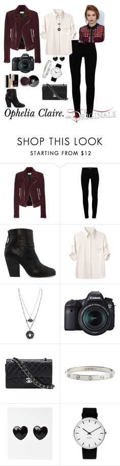 """Ophelia Claire. The Originals OC."" by thatnellegirl on Polyvore featuring Balenciaga, J Brand, rag & bone, Eos, Chanel, Cartier and Rosendahl"