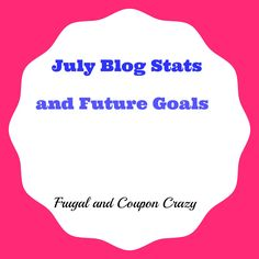 July Blog Stats and Future Goals