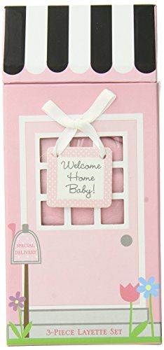 Baby Aspen Welcome Home Baby 3-Piece Layette Gift Set, Pink, 0-6 Months http://timelesstreasure.theaspenshops.com/product/welcome-home-baby-3piece-layette-set-in.html