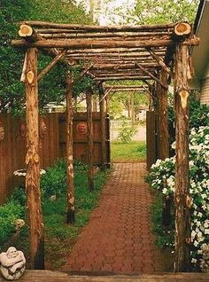 Rustic arbor, love this