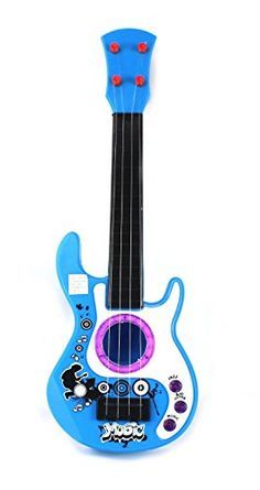 Music Dream Dazzler Childrens Kids Toy Guitar Instrument W Real Steel Strings Tuning Knobs
