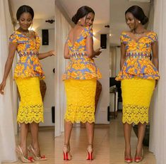 Beautiful Ankara Style Top and Lace Styles .Beautiful Ankara Style Top and Lace Styles African American Fashion, African Inspired Fashion, African Print Fashion, Africa Fashion, Men's Fashion, Fashion Clothes, Fashion Rings, Latest Fashion, Fashion Ideas