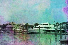 Boats At Bald Head Harbor 2 by Cathy Lindsey Bald Head Island, Bald Heads, Boats, Digital Art, Design Inspiration, Wall Art, Artist, Artwork, Painting