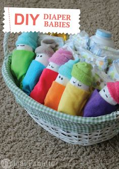 Have a blast creating these fun DIY baby diaper gifts!