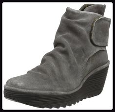 Fly london Yegi Grey Suede Womens Wedge Ankle Boots Shoes-38 - Stiefel für frauen (*Partner-Link)