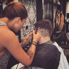 Fade with design - Men Hairstyle - Barber Haircut Barber Haircuts, Haircuts For Men, Hair Cuts, Hairstyle, Design, Fashion, Man Haircuts, Haircuts, Hair Job