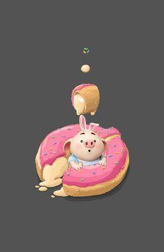 Pig Wallpaper, Cute Pigs, Little Pigs, Minis, Cinderella, Disney Characters, Fictional Characters, Clip Art, Cartoon