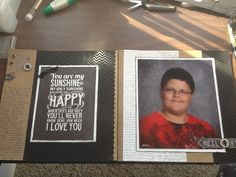 Neil's school pic 2013-2014.  Created by Carla Ramirez using CTMH products.