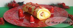 Rotolo panna e fragole | Le ricette di Libellula