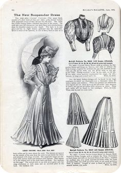 McCall's June 1905. The pleat/button tab detail on the skirt could easily be adapted to a more modern silhouette.