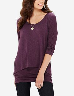Layered Tunic Top from THELIMITED.com- perfect for fall into winter with leggings/skinny jeans.