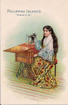 Singer Sewing Machine trade card -- Philippine Islands -- c. 1900 by bjebie, via Flickr