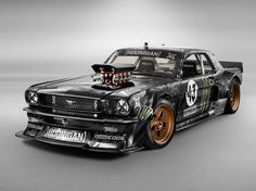 INSANE! Chris Harris visits Ken Block on the set of Gymkhana 7 to check out the 'Hoonicorn' 1965 Ford Mustang race car used in the viral video.
