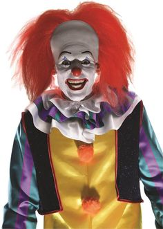Description #52915 Top off your terrifying costume with our IT the Movie: Pennywise Wig. You can add the perfect touch to this creepy clown costume #881562 inspired by Stephen King. This wig features