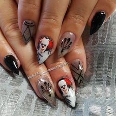 Creepy 'IT' Nail Art -  - NAILS Magazine
