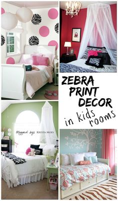 Add touches of the stylish zebra print as decor in kids rooms for an unexpected pattern!