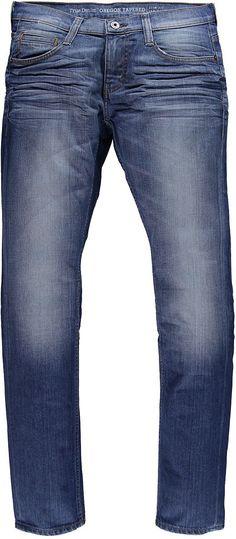 Schmal geschnittene 5-Pocket-Jeans mit gemäßigter Leibhöhe und schmalem Beinverlauf, aufwendig gearbeiteten Used-Effekten und 3D Sitzfalten. Reißverschluss. 98 % Baumwolle, 2 % Elasthan....