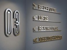 Medi Terre, a luxury boutique hotel on the Mediterranean. Directory signage created by HBA Graphics