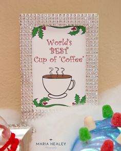 Best cup of coffee sign at an Elf Christmas party!  See more party planning ideas at CatchMyParty.com!