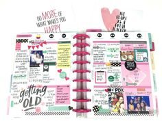 a busy birthday week in The Happy Planner? of mambi Design Team member Chantal Stevens | me & my BIG ideas