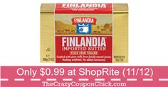 Stock Up!  Finlandia Butter Only $0.99 at ShopRite (11/12)