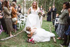 A Joyous + Prideful Backyard Maine Wedding Navy Blue Heels, Maine, Couples In Love, Reception, Flower Girl Dresses, Backyard, Dancing Shoes, Wedding Dresses, Party